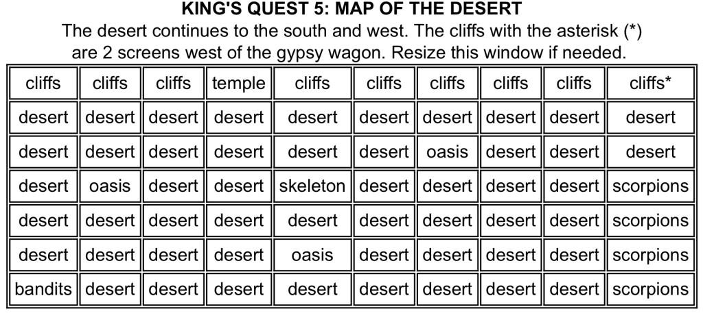 KQ5 Desert Map