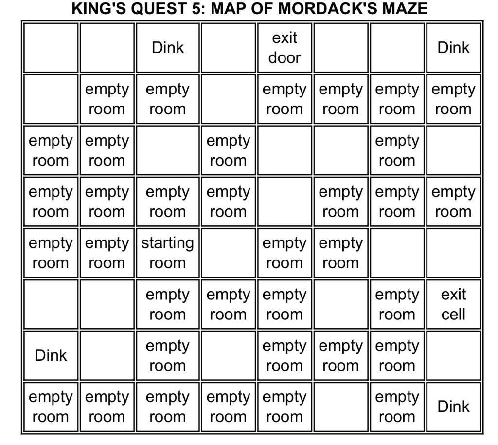 KQ5 Mordack Maze Map